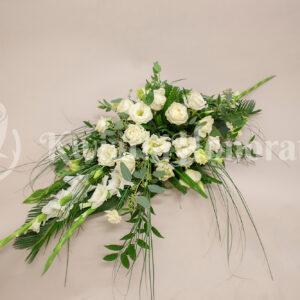 dekoracja trumny elegancka biel