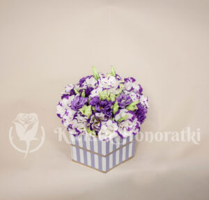 Flower box z eustomy