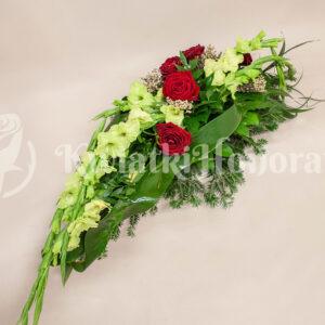 wiązanka pogrzebowa kondolencyjna 2 kwiatki honoratki ząbki